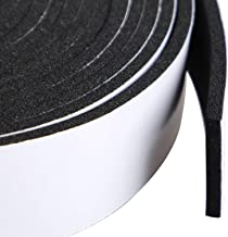 Foam Strips Adhesive 1 Inch Wide X 1/8 Inch Thick, Neoprene Weather Stripping High Density Foam Tape Seal for Doors and Windows Insulation, Total 33 Feet Long (2 Rolls of 16.5 Ft Long Each)