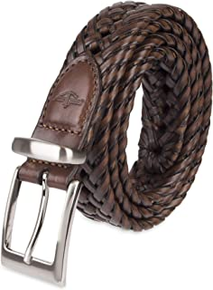 Men's Leather Braided Casual and Dress Belt
