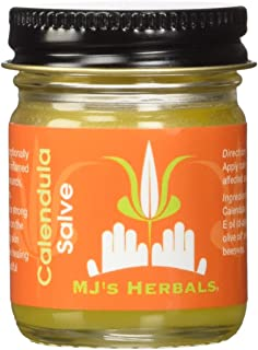 Sponsored Ad - MJ's Herbals Calendula Salve | Skin Soothing Balm, Eczema Cream, Diaper Rash, Scar Treatment, Bug Bite Itch...
