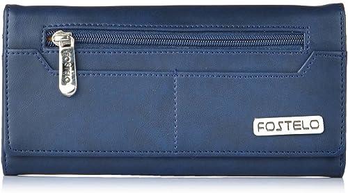 Fostelo Women's Versatile Two Fold Wallet (Blue)