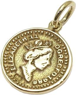 エリザベス コイン 真鍮製 マーキュリーダイム 硬貨 ウィングド・リバティ・ヘッド コイン ネックレス メイン マリアペンダントトップ銀 ゴールド マリア様 maria マリアネックレス