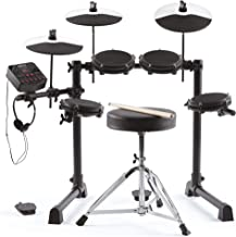 Alesis Debut Kit – Kids Drum Set With 4 Mesh Electric Drum Set Pads, 120 Sounds, 60 Melodics Lessons, Drum Stool, Drum Sti...