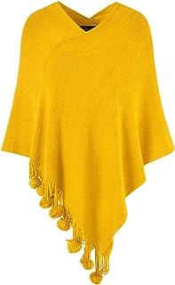 Ferand Elegantes Jersey para mujer con flecos de pompones