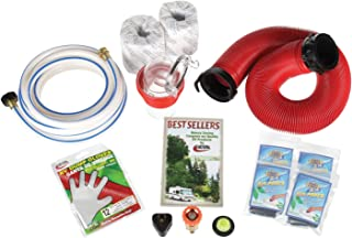 44732 Leak Proof seals Camco RV Sanitation Kit for Your Holding Tank System Storage Caps Includes RhinoFLEX Sewer Hose with Fittings Sanitation Gloves and TST Drop Ins to Eliminate Holding Tank Odors