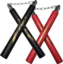 Beyck Nunchuck,Safe Foam Rubber Training Nunchucks/Nunchakus with Steel Swivel Chain
