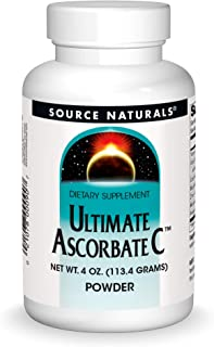 Source Naturals Ultimate Ascorbate C Powder - Vitamin C - 1000 mg Supports Immune System - 4 oz