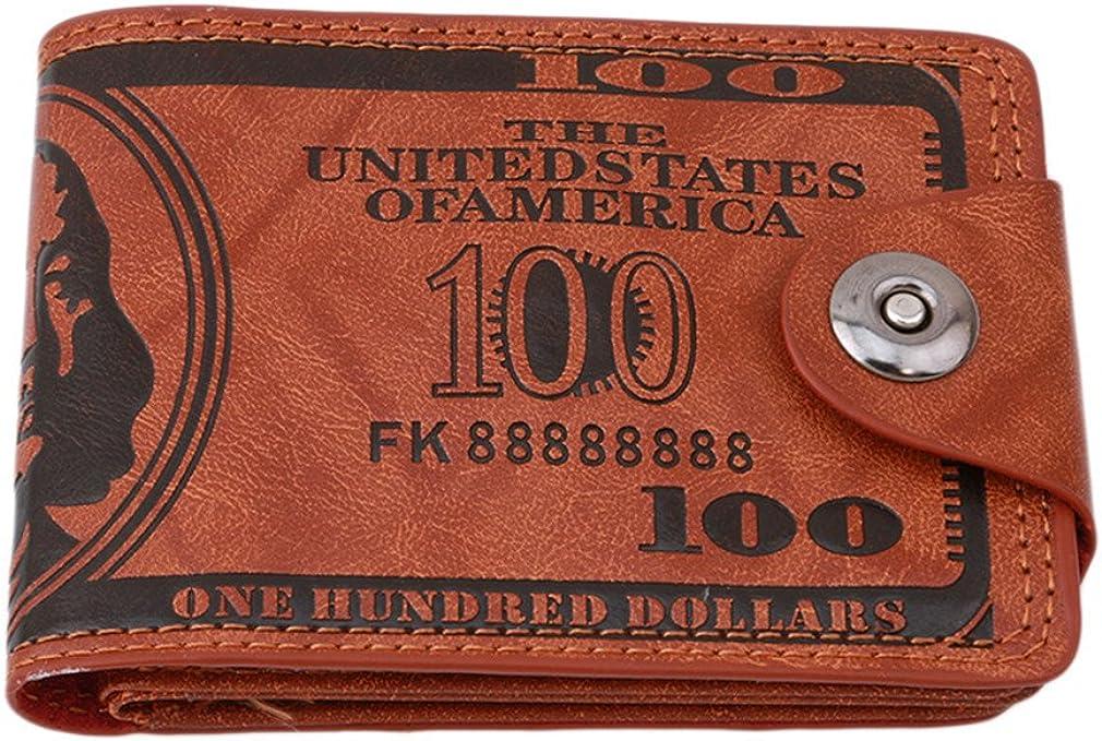 HENGSONG Men US Dollar Bill Wallet PU Leather Credit Card Photo Holder Bifold