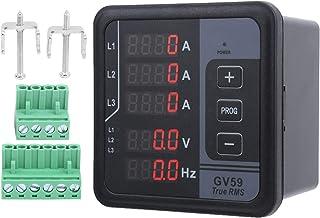 Medidor multifuncional digital Eujgoov GV59 Instrumento de monitoreo de CC 165-265 V para generador trifásico
