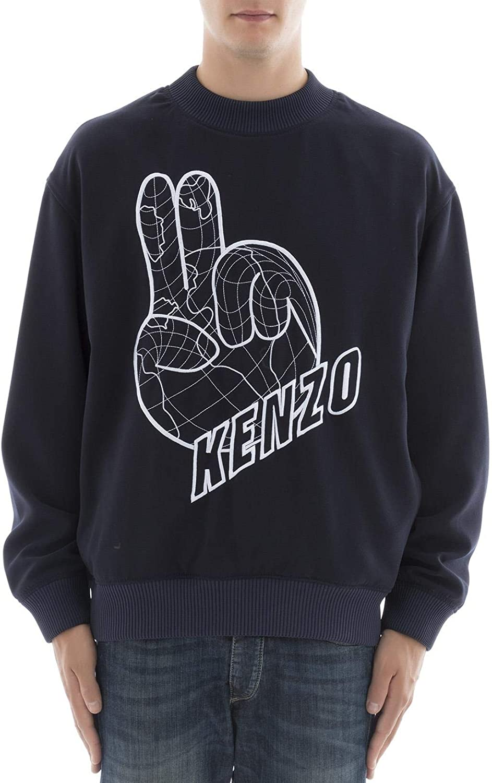 Kenzo Men's F765SW6011RG76 blueee Polyester Sweatshirt