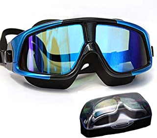 June Sports Swimming Goggles Adults Large Frame 100% No Leaking Swim Goggles Wide View with Anti Fog UV Protection Mirrored Lenses,  Comfort Fit For Women Men Youth Teens Kids Free Protection Case SG15