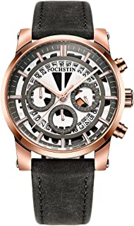 OCHSTIN Business Men Watch Leather Strap Quartz Sport Wristwatch Calendar Fashion Casual Male Watches