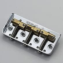 WILKINSON WTBS SHORT BRIDGE + COMPENSATED BRASS SADDLES For Fender Tele/Telecaster Guitar Chrome