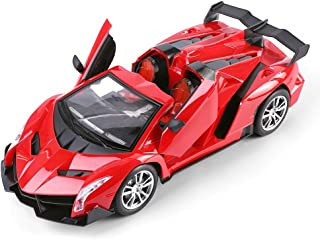 Best Price Center 1:14 Scale (Red) Italian Exotic Supercar Roadster Convertible Remote Control Model Car