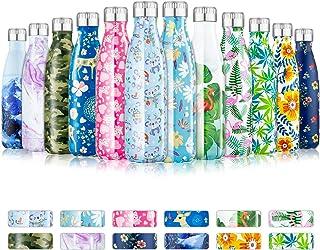 comprar comparacion Fancytimes 350/500/750ml Botella de Agua Acero Inoxidable, Aislamiento de Vacío de Doble Pared, Estanqueidad, sin Fugas, R...