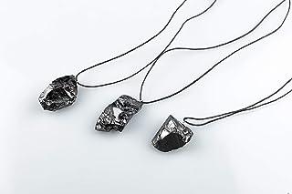 SN NATURSTEIN UG - Colgante Shungit de Cristal Mineral | Gema y piedra curativa originaria de Carelia - Protección contra ...