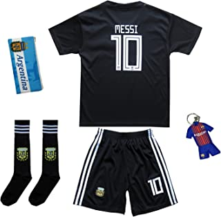 1e7036fe3 KID BOX 2018 Argentina Lionel Messi  10 Away Soccer Kids Jersey   Short Set  Youth