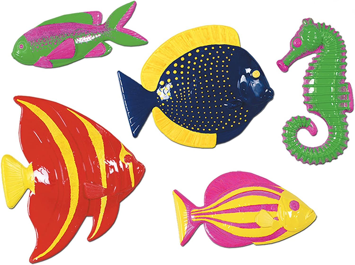 encuentra tu favorito aquí Plastic Fish Party Accessory (1 count) count) count) (5 Pkg)  lo último