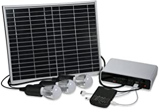 Affirm Global IT118373 Rechargeable Solar Lighting System And Cell Phone Charger For Emergency/Camping