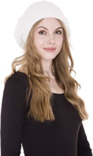 Janice Apparel Women's Warm Soft Plain Color Winter Cable Knitted Beret Beanie Hat Skull Cap