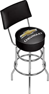 Chevrolet Padded Swivel Bar Stool with Back