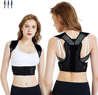 Posture Corrector for Men Women Kids Adjustable Upper Back Brace Posture Corrector for Clavicle Support Back Straightener Pain Relief for Neck,Back and Shoulder (XL(Waistline33inch-39inch))