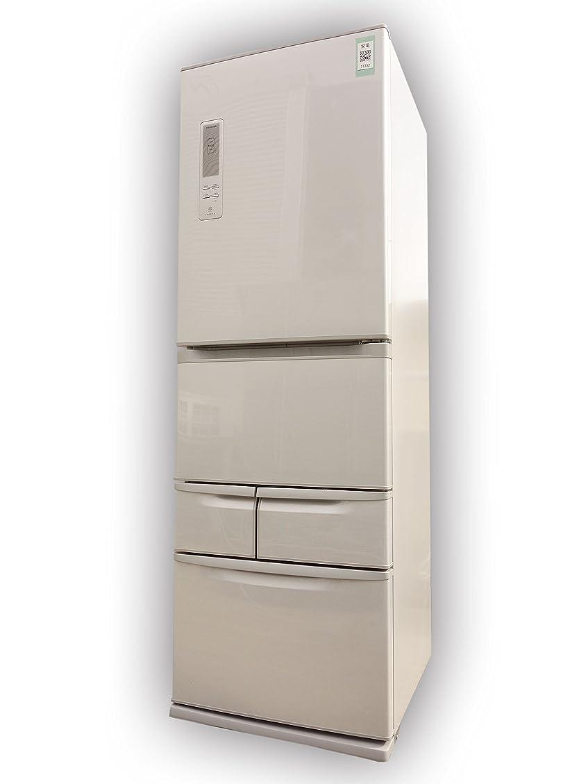 塩スーツケース命題TOSHIBA 冷凍冷蔵庫 VEGETA 427L 5ドア ブライトシルバー GR-E43G(SS)