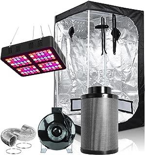 Hongruilite 600W Full Spectrum LED Grow Light + 36''x36''x72'' Grow Tent + 4