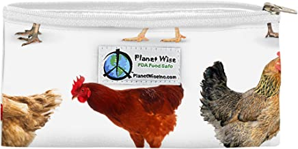 Planet Wise Reusable Zipper Sandwich and Snack Bags, Snack, Mother Clucker Poly