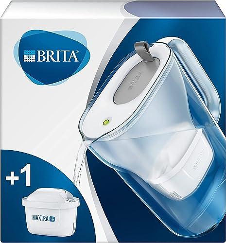 BRITA, Carafe Filtrante, Style, 2.4L, 1 Cartouche Filtrante MAXTRA+ incluse - Graphite