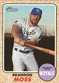 2017 Topps Heritage High Numbers #612 Brandon Moss Royals MLB Baseball Card NM-MT