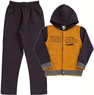 Conjunto Ocre Infantil Menino Moletom 38771-345