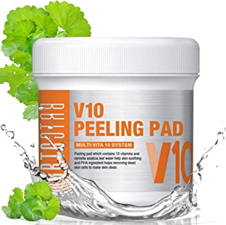 BRTC V10 Peeling Pad - Skin Soothing with 10 vitamins, Exfoliating and Removing Dead Skin Cells with PHA ingredient, Purifying Care, Intensive Moisturizing and Deep Cleansing (80EA)