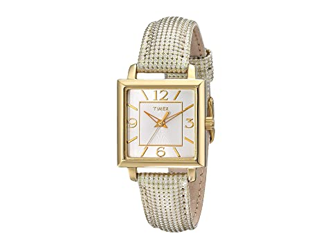 Timex Style Elevated Classic Straps and Bracelets, GOLD/WHITE