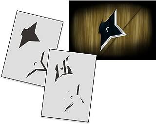 UMR-Design AS-267 Ninja Star Airbrushstencil Step by Step Size S