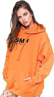 SMH Hoodie Sweater Jumper Sweatshirt Top Women's Fun Tumblr Grunge Goth Slogan Fashion Orange