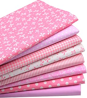 iNee Pink Fat Quarters Quilting Fabric Bundles, Quilting Fabric for Sewing Crafting, 18 x22 inches,(Lovely Pink)