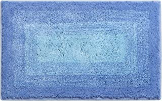 Shaggy Bathroom Rug, Artiron Bathroom Floor Rug Mats Luxurious Plush Non Slip Machine Washable Soft Microfiber Gradient Color Carpet for Tub Shower Bathroom Doormat(20×31 inches,Blue)