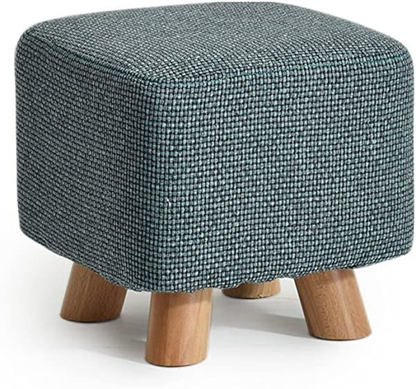Solid Wood Shoes Stool Square Upholstered Footstool Sofa Low Stool Footrest Small Seat Foot Rest Chair Color 4