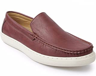 Spunk Mens Vale Maroon Loafers