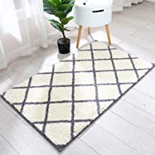 45x27 Inch Accent Rugs Made of 100% Polyester Extra Soft and Non Slip,Specialized in Machine Washable Accent Rug,Grey