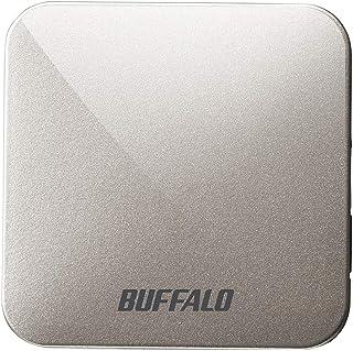 BUFFALO 無線LAN親機 11ac/n/a/g/b 433/150Mbps トラベルルーター アッシュシルバー WMR-433W2-AS