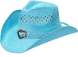 Port Classic Shapeable Straw Country Cowboy Hat, Heart