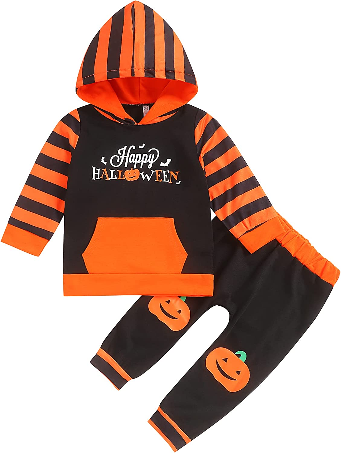 Baby Boy Halloween Outfits Toddler Boy Halloween Outfits Hoodie Happy Halloween Outfits Set