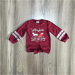 Toddler Little Baby Baby Girl Christmas Clothes Girls Santa Trees Shirt Tee Car Tee Elk Tee Snow Tee Girls Cotton Top,Comfy for All Day wear (Color : Brown, Kid Size : 4T)