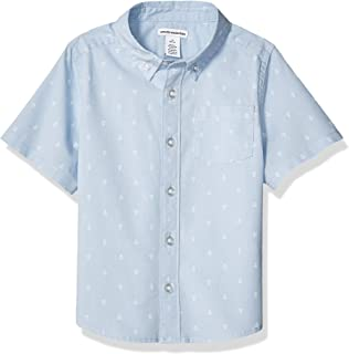 Boys' Short-Sleeve Button-Down Shirt