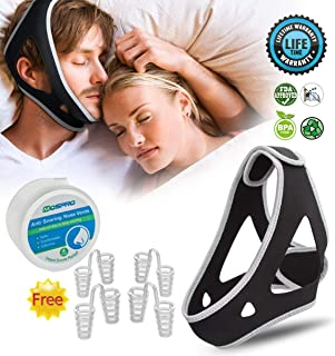 Snoring Chin Strap,Adjustable Snore Reduction Device,Effective Sleep Aids Snore Stopper Solution for Women and Men