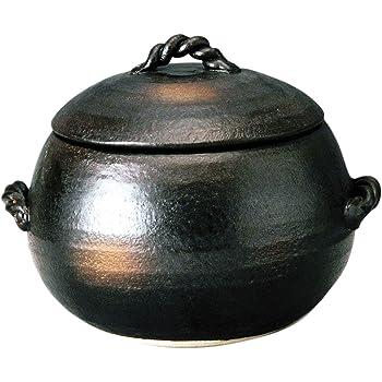 萬古焼 ご飯土鍋 3合炊き 伊賀風 M4806