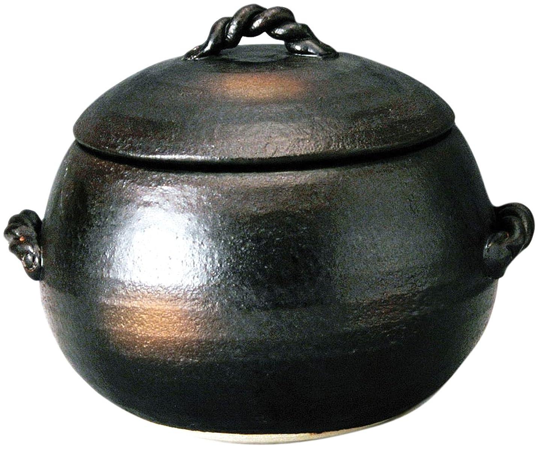 スイハンカチ太平洋諸島萬古焼 ご飯土鍋 3合炊き 伊賀風 M4806