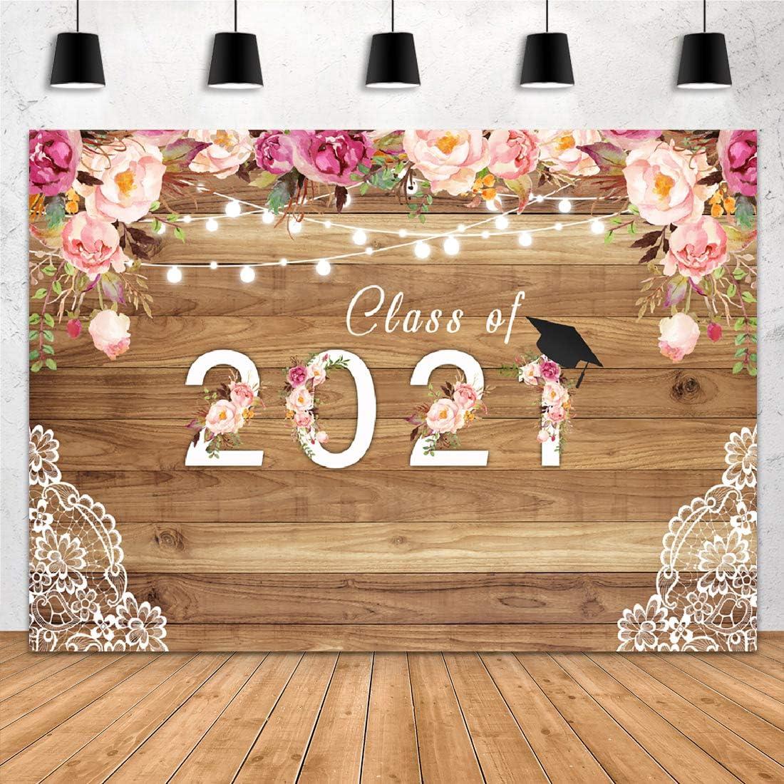 Aperturee Class of 2021 定番から日本未入荷 Seasonal Wrap入荷 Graduation 7x5ft Photography Backdrop Pr