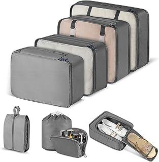 Balcony /& Falcon Juego de 8 bolsas para ropa bolsas de almacenamiento bolsas para zapatos organizadoras juego de bolsas para ropa maletas cubos para guardarla color azul